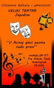 Veliki teatar Jagodina - plakat